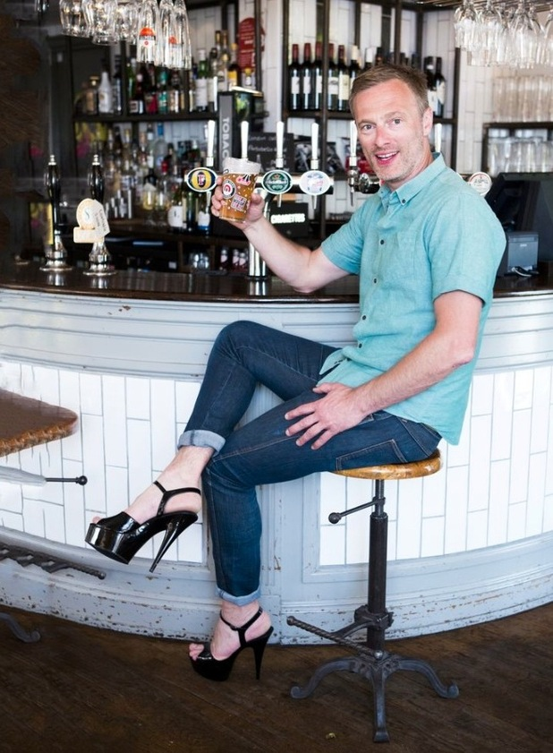 Martin propping up the bar