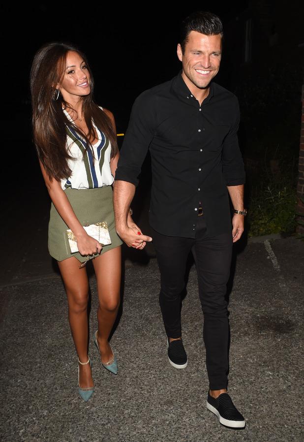 Mark Wright and Michelle Keegan spotted leaving Studio 15 nightclub - 12 June 2015.