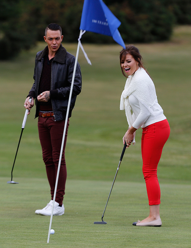 The Only Way is Essex' cast filming, Britain - 22 Jun 2015 Jessica Wright and Bobby Cole Norris