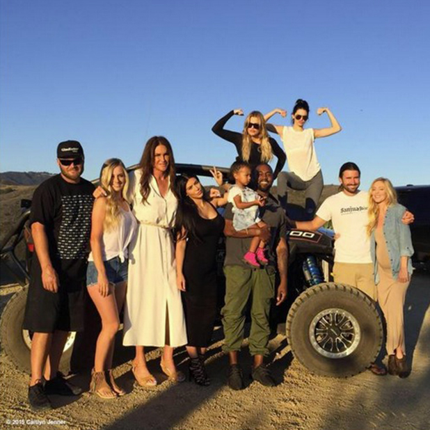 Caitlyn Jenner surrounded by family on Father's Day, June 2015