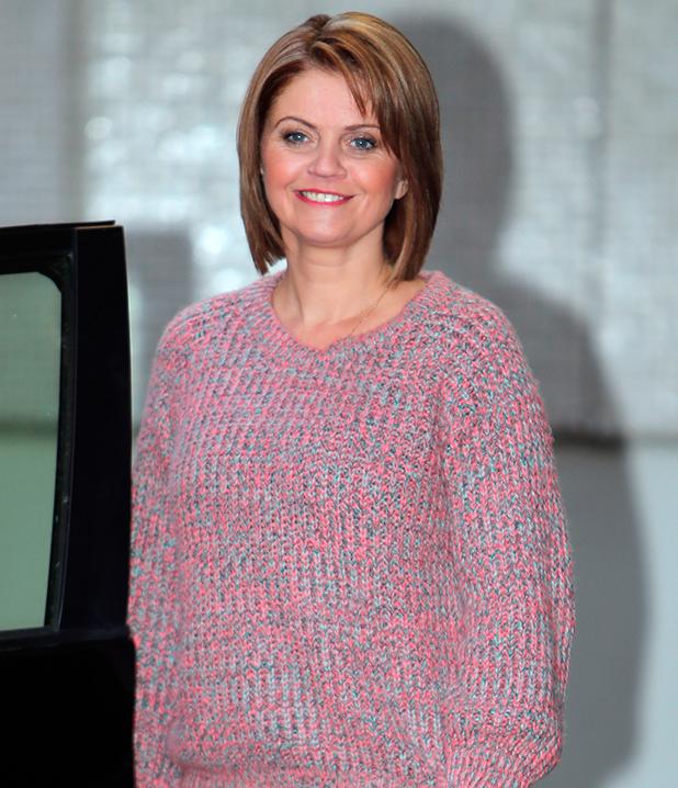 Danniella Westbrook outside the ITV studios, 2013