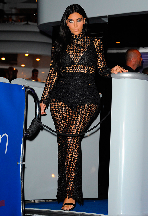 Kim Kardashian at Cannes Lions festival yacht party, 24 June 2015