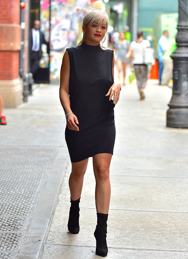 Rita Ora is seen in Soho on June 23, 2015 in New York City. (Photo by Alo Ceballos/GC Images)