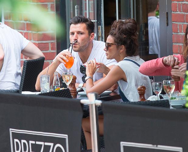 Mark Wright and Michelle Keegan in Cambridge, Britain - 24 Jun 2015