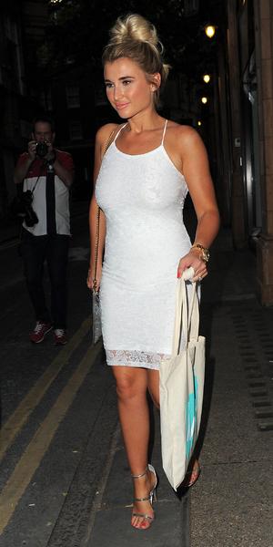 Billie Faiers attends LOVO launch, London 1 July