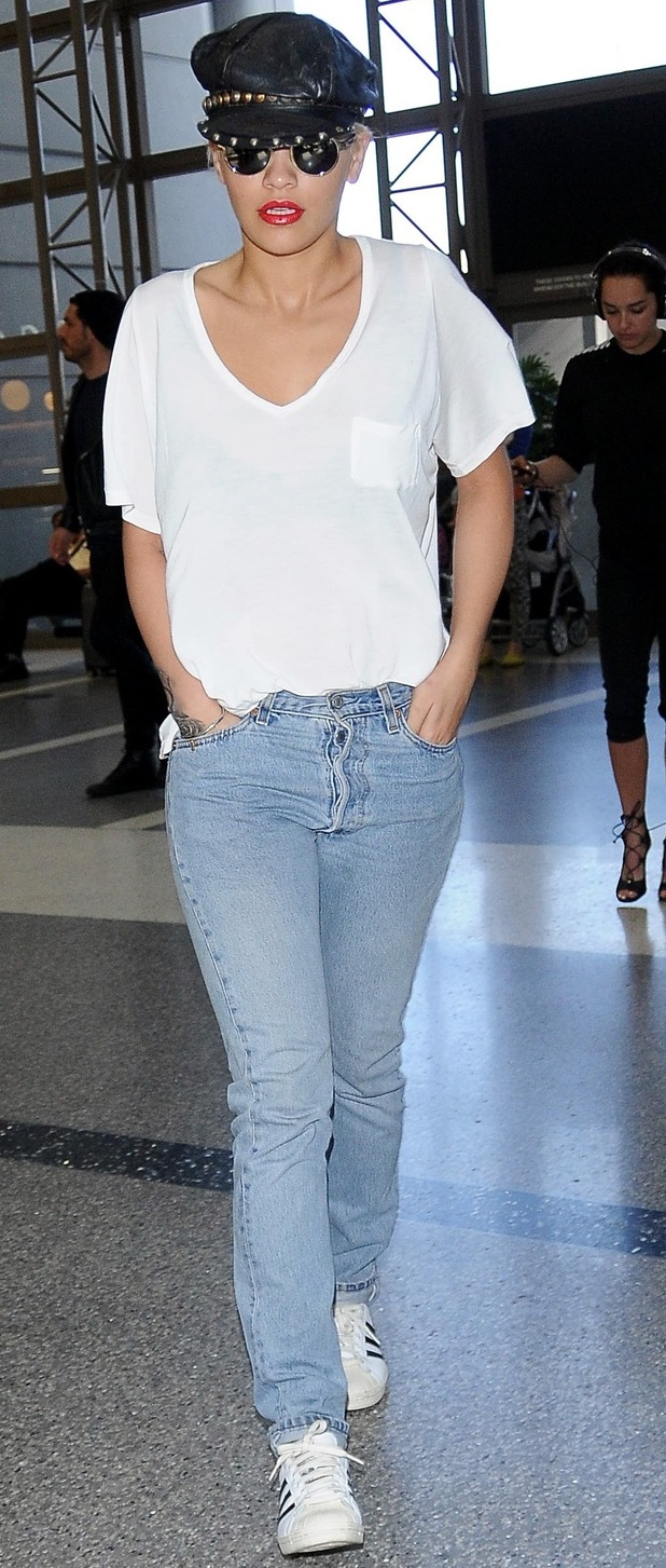 Rita Ora lands at LAX Airport in Los Angeles 3rd June 2015