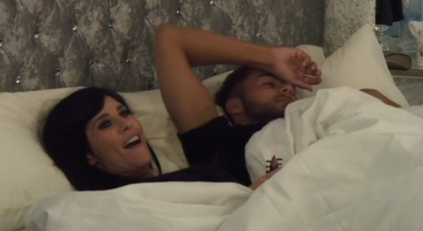 Jasmine Lennard and Cristian MJC can't bear to be apart in the Big Brother house as they kiss in bed - 2 July 2015.