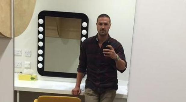 Paddy McGuinness on his first day filming Coronation Street  - 25 June 2015.