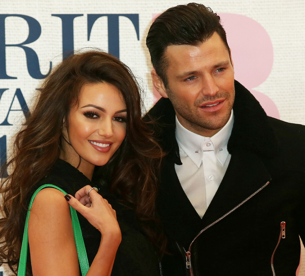 Mark Wright and Michelle Keegan attend The Brit Awards at the O2 26/02/15