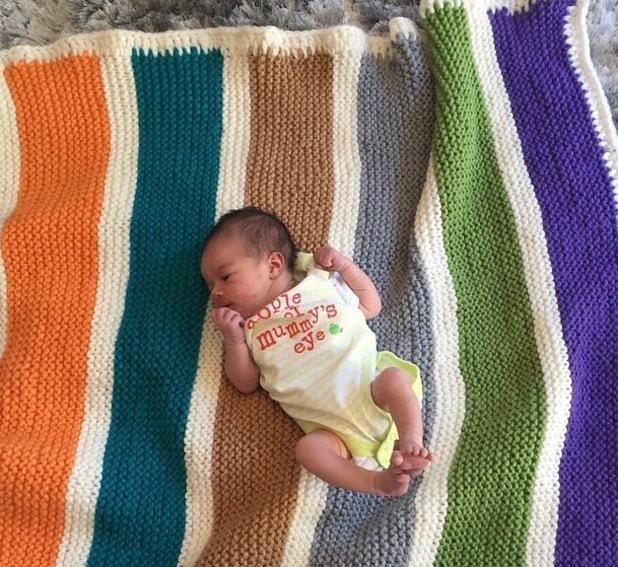 Helen Flanagan shares first photo of baby daughter Matilda Jessica Sinclair - 30 June 2015.