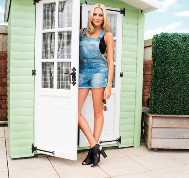 Made in Chelsea's Stephanie Pratt for Missy Empire wearing dungarees 29th June 2015