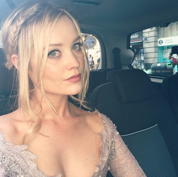 Laura Whitmore shares selfie of Grand Prix Ball make-up to Instagram, 2nd July 2015