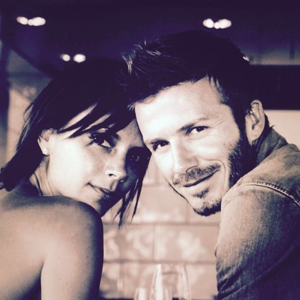 David Beckham shares lovely snap with wife Victoria to celebrate their wedding anniversary, 4 July 2015