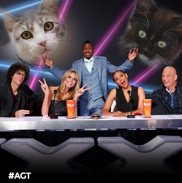 America's Got Talent judges, Howard Stern, Heidi Klum, Mel B and Howie Mandel, plus host Nick Cannon, 30 June 2015