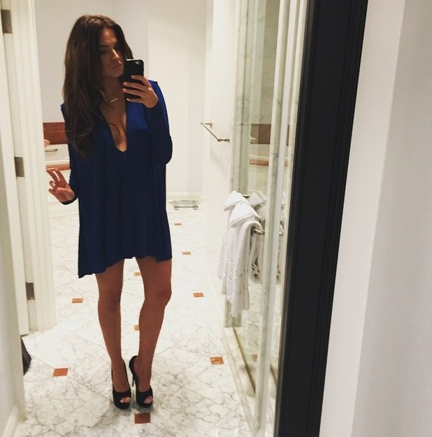 Made in Chelsea's Binky Felstead takes mirror selfie in Los Angeles, L.A 29th June 2015