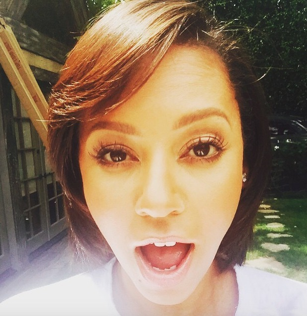 Melanie Brown shows off sexy new false eyelashes thanks to PRIV on-demand beauty app, 1 July 2015