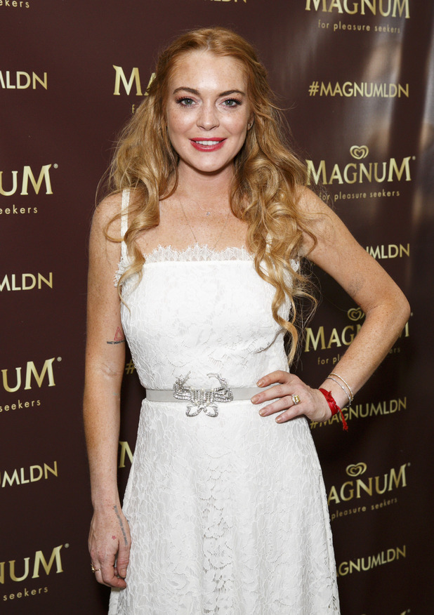 Lindsay Lohan at the Magnum Pleasure's Store Launch in Covent Garden 01/07/15