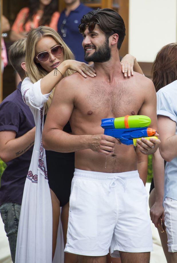 The Only Way is Essex' cast filming - Lauren Pope, Dan Edgar -  01 Jul 2015.