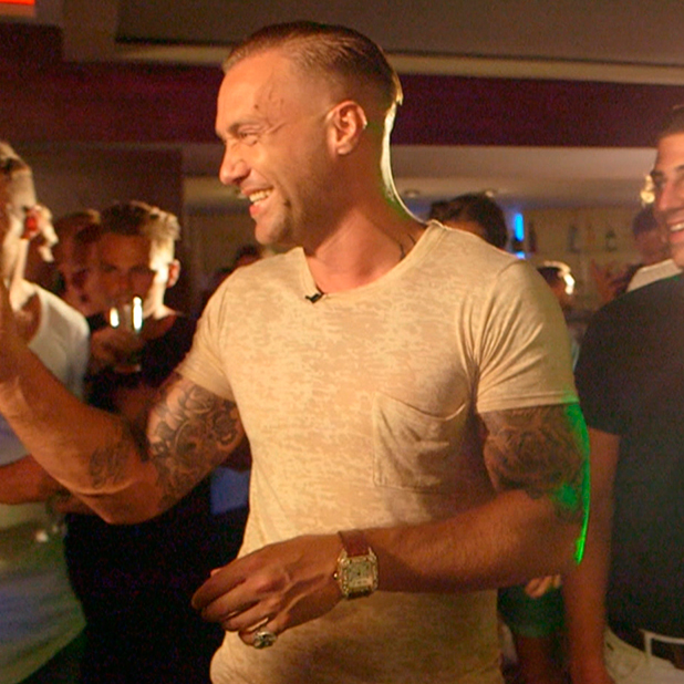 Calum Best takes the boys on a night out. Love Island, episode to air 29 June 2015