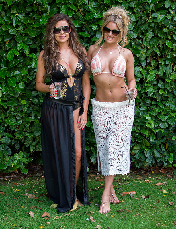 'The Only Way is Essex' cast filming, Britain - 01 Jul 2015 Jessica Wright and Danielle Armstrong