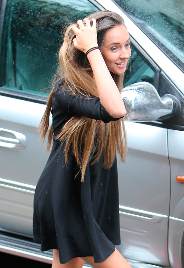 Peter Andre and Emily MacDonagh outside ITV Studios 2 July 2015