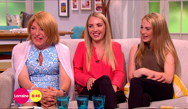 Kellie Maloney appears on 'Lorraine' with her two daughters Sophie nad Libby to discuss her gender reassignment surgery and to promote her new book 'Frankly Kellie' broadcast on ITV1 HD