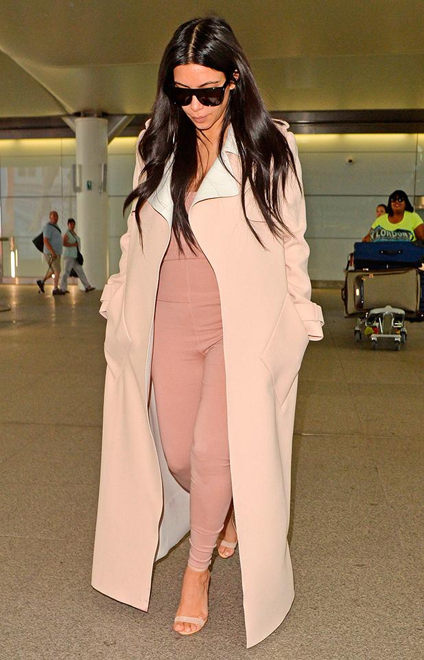 Kim Kardashian at Heathrow Airport, London, Britain - 29 Jun 2015