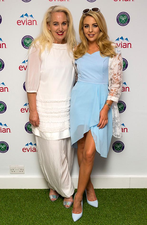 Lydia Bright and Debbie Douglas at Wimbledon 2 July 2015