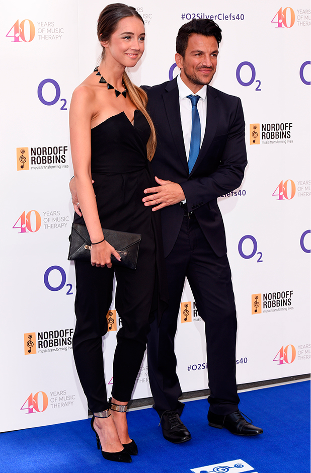 Nordoff Robbins O2 Silver Clef Awards, Grosvenor House, London, Britain - 03 Jul 2015 Peter Andre and Emily MacDonagh