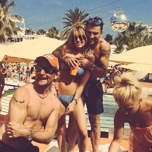 Jake Quickenden, Danielle Fogarty and Carl Fogarty in Ibiza 8 July