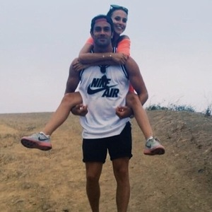 James Dumore and Lucy Watson hiking in LA 8 July
