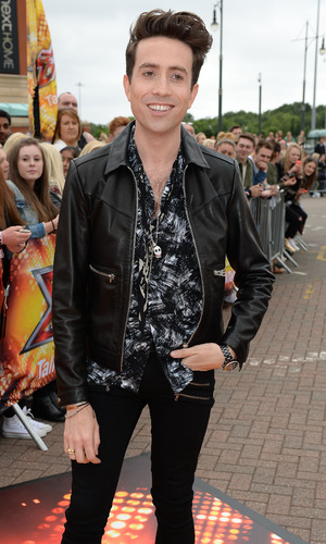 Nick Grimshaw arrives for first X Factor auditions in Manchester 8 July