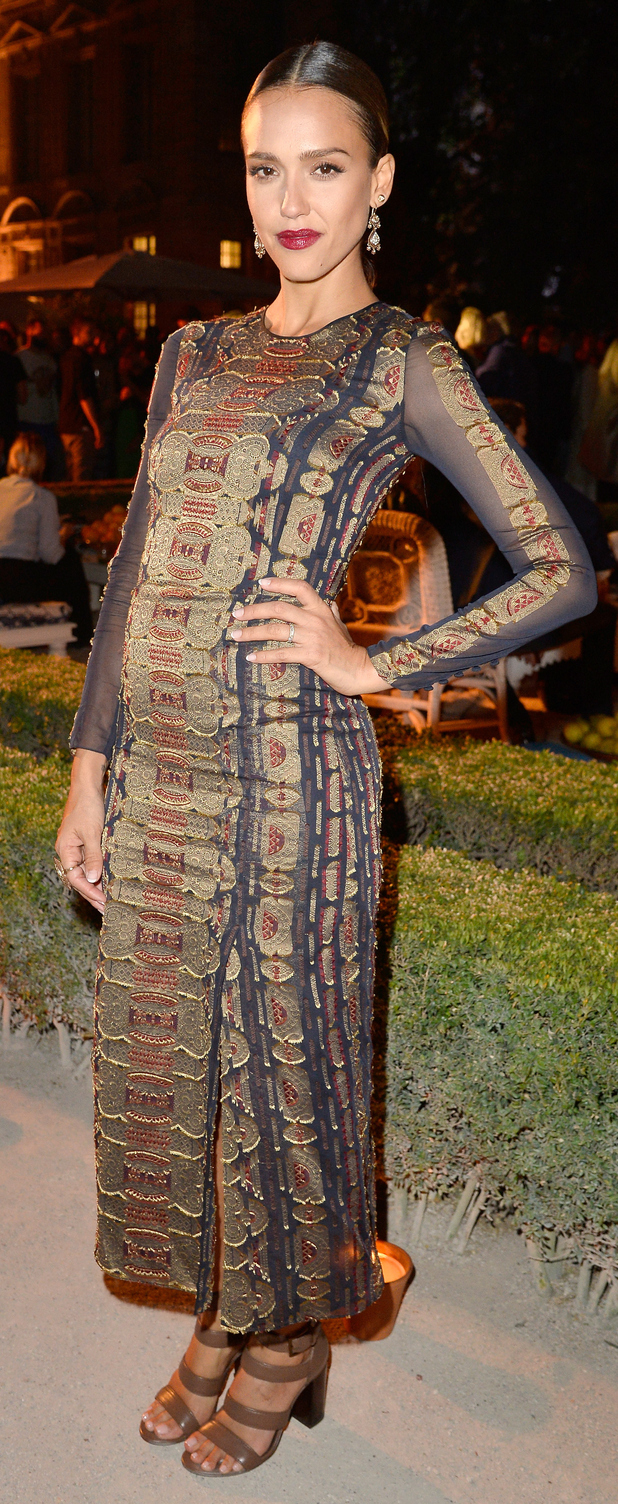 Jessica Alba at the Tory Burch store opening in Paris 8th July 2015
