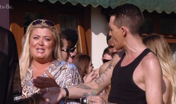 Bobby argues with Gemma at the pool party - 5 July 2015.