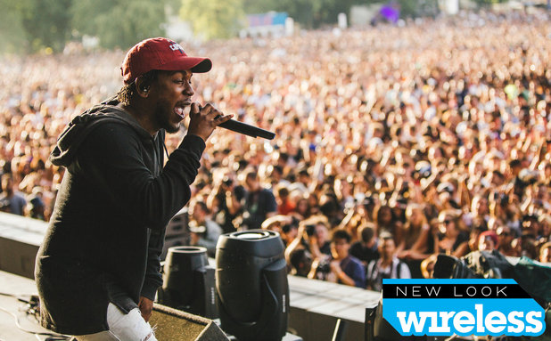 Kendrick Lamar performing at the New Look Wireless Festival - 4 July 2015.
