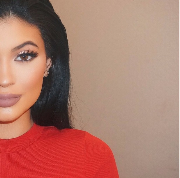 Kylie Jenner posts pic of matte lip to Instaram 6th July 2015