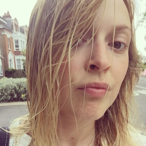 Fearne Cotton shares a post swim selfie, 7th July 2015
