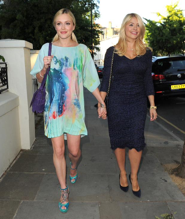 Fearne Cotton and Holly Willoughby at ITV's Summer party, London 9 July