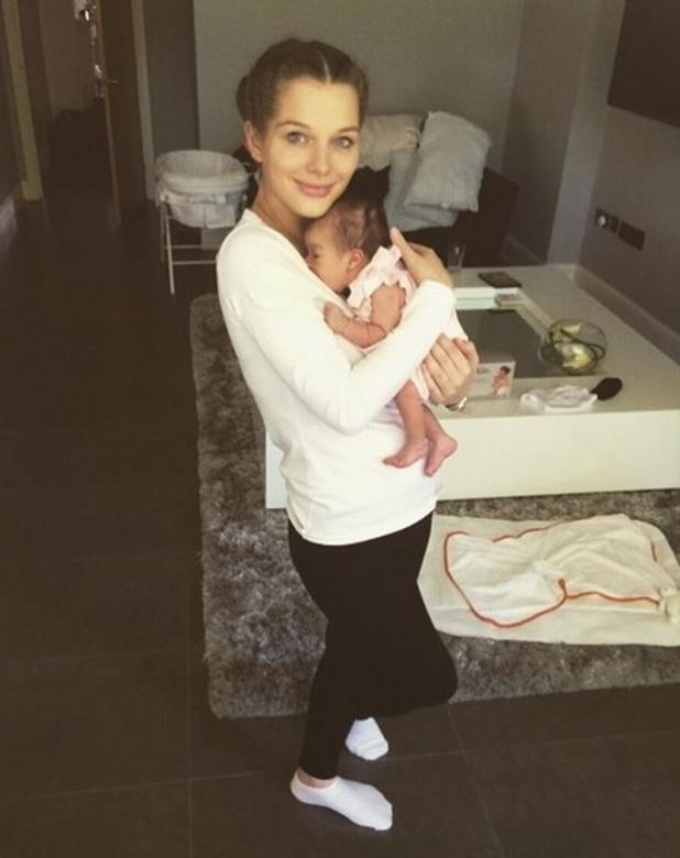 Helen Flanagan shares a snap with newborn daughter Matilda Sinclair, 7th July 2015