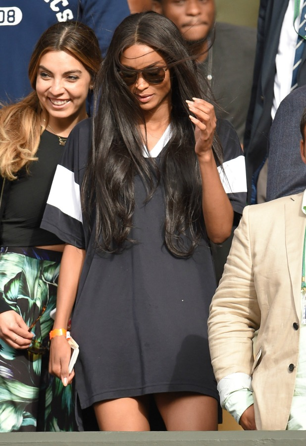 Ciara attends day eight of the Wimbledon Tennis Championships at Wimbledon on July 7, 2015 in London, England. (Photo by Karwai Tang/WireImage)