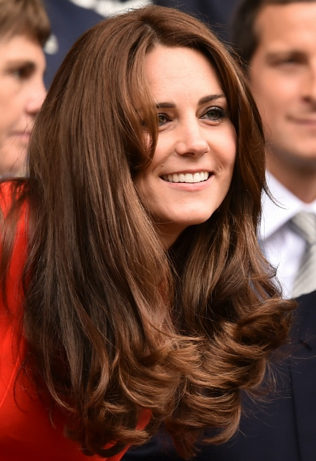 Catherine, Duchess of Cambridge and Prince William, Duke of Cambridge attend day nine of the Wimbledon Lawn Tennis Championships at the All England Lawn Tennis and Croquet Club on July 8, 2015 in London, England.