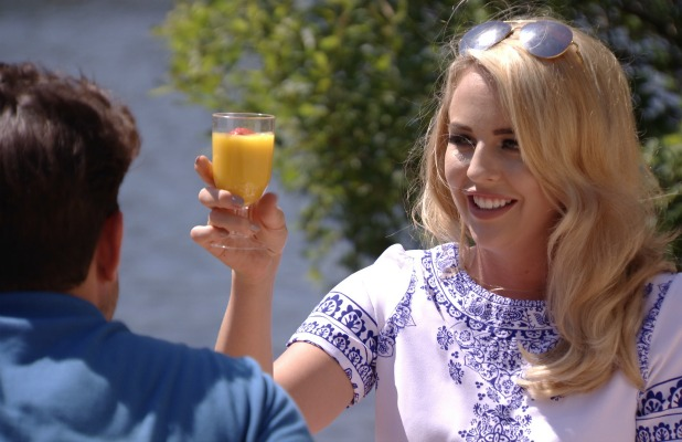TOWIE's Lydia and Arg toast seven years since meeting Episode: 8 July 2015
