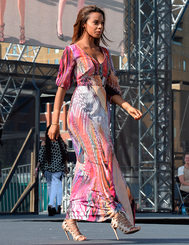 Rochelle Humes The Very Big Catwalk at Liverpool Pier Head 2015
