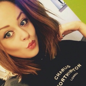 Emily Atack prior to having her hair done 10 July