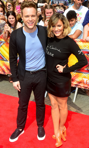 Olly Murs and Caroline Flack, X Factor auditions, Wembley Arena 16 July