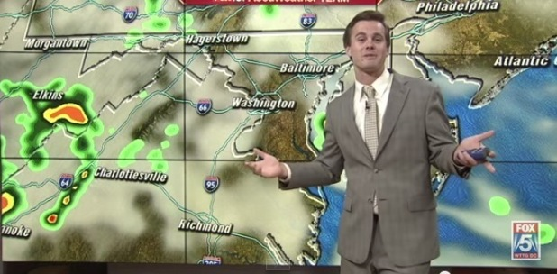 FOX 5's Mike Thomas gives a Taylor Swift style weather report, 13th July 2015