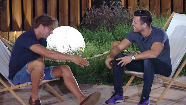 Love Island: Max asks Jess to be his girlfriend after some encouragement from Mark Wright - 14 July 2015.