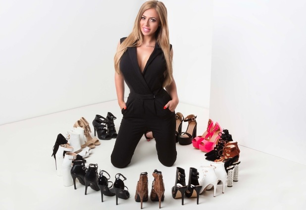 Holly Hagan launches her first ever shoe collection with Lasula Boutique, 16th July 2015