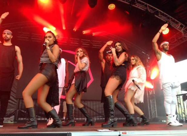Little Mix perform at Thorpe Park, 18 July 2015