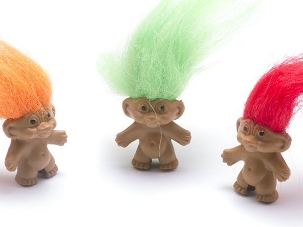 Troll pencil toppers